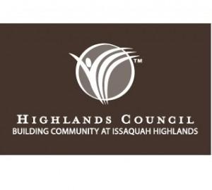 HC logo white on brown block