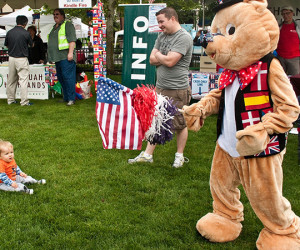 I am really a quiet person, but put me in a bear costume on Highlands Day, and I am the life and soul of the party!