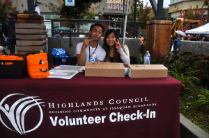HH 2014 volunteer booth