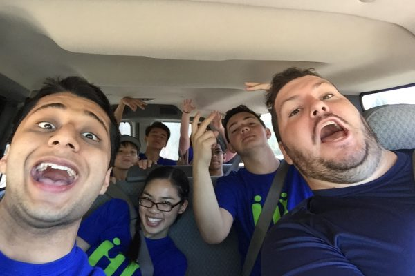 HY retreat 2015 van ride