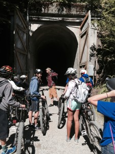 Heading into the tunnel