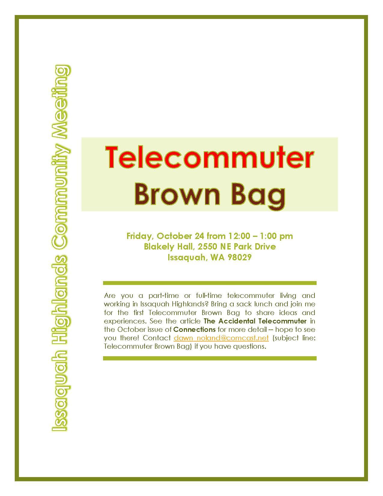 Telecommuter Club Meet Up