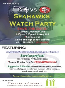 Seahawk Watch Party Quarter Page Ad