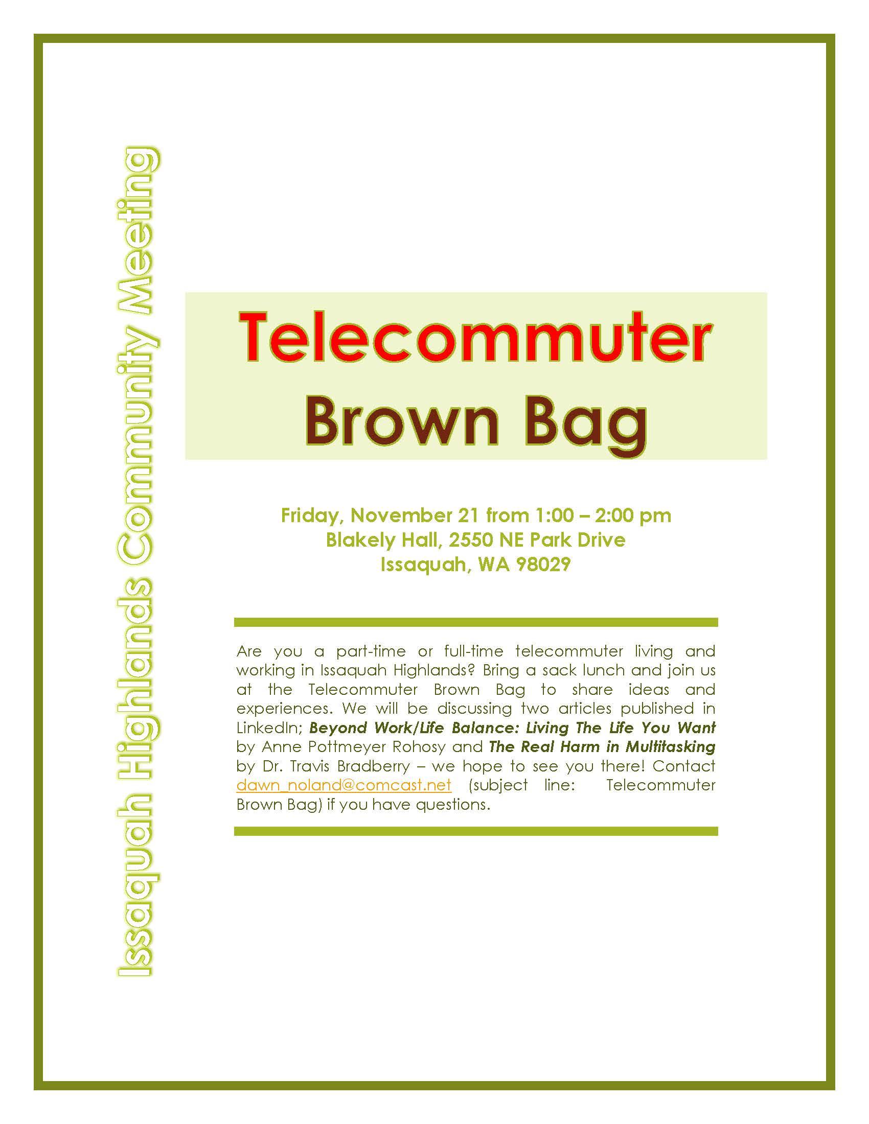 Telecommuter Club_November