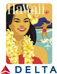 Delta Airlines Hawaii WITH LOGO