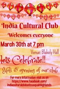 India Cultural Club flyer 201503