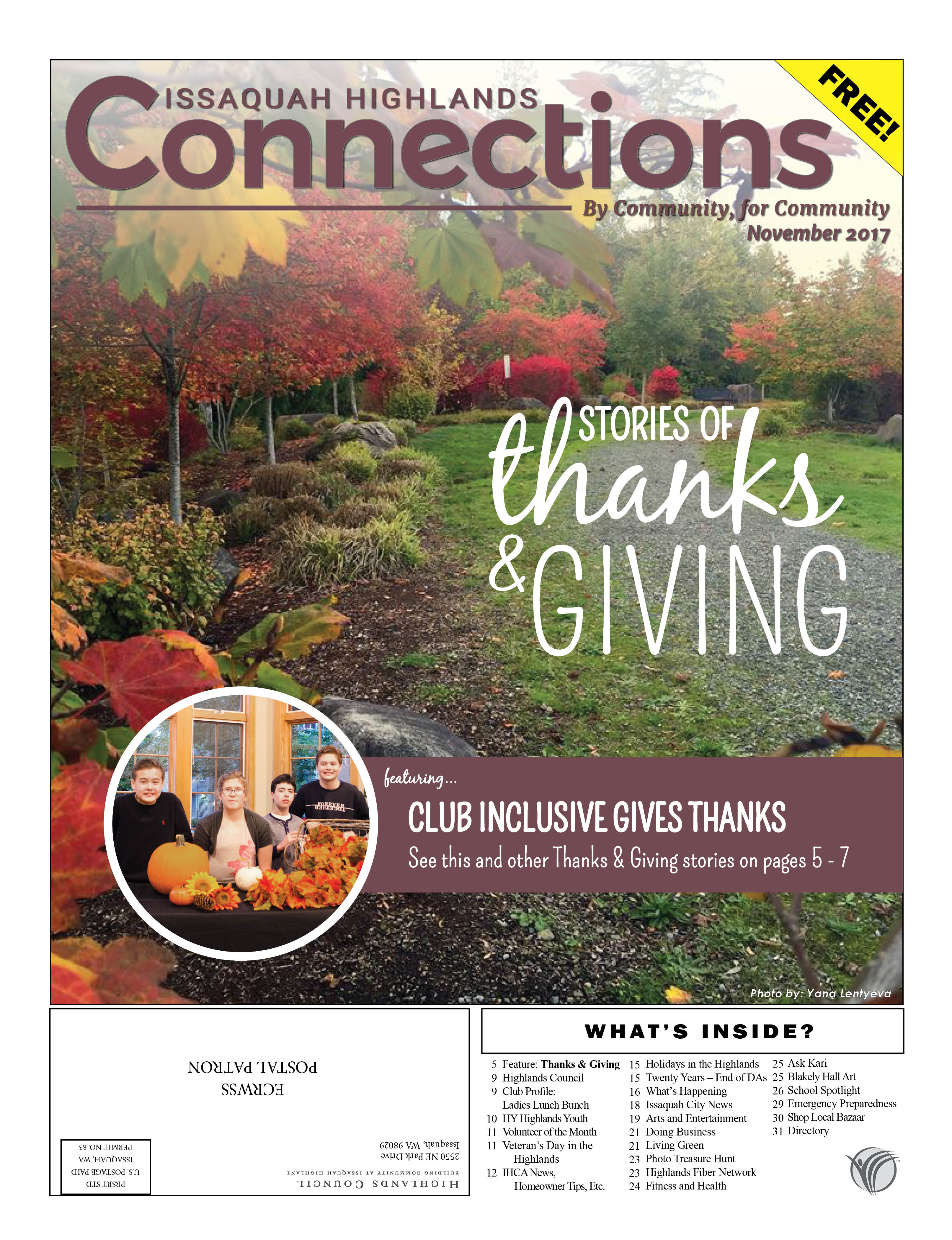 November 2017 Connections