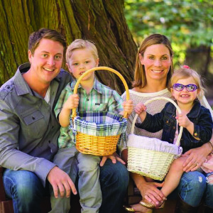 Clay Ishmael with his wife Erin and their children Alexa (3) and Cody (5).
