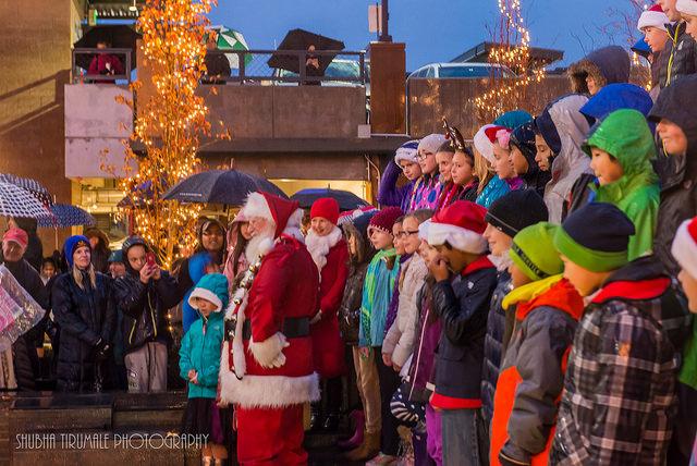 Santa and GRE Choir