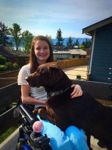 Pet Service Dog and Katie July 2015