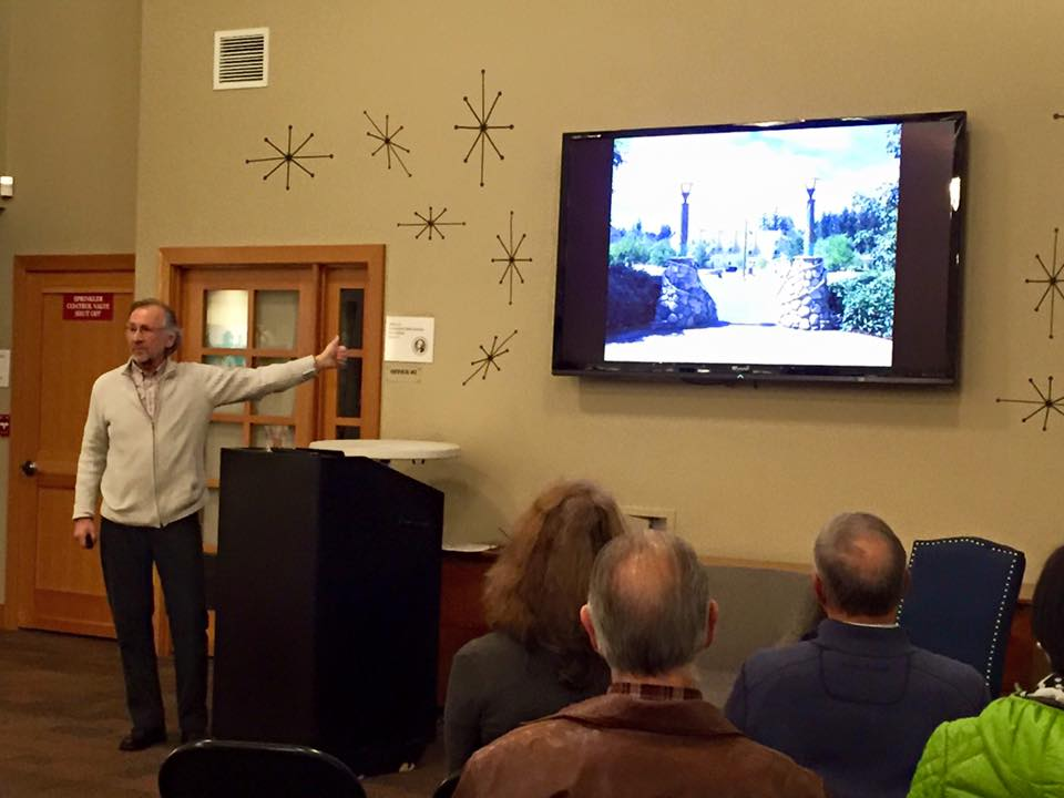 Milenko Matanovic delivers the keynote address at Thursday's Community unConference: 20 Years of Sustainability in Issaquah Highlands