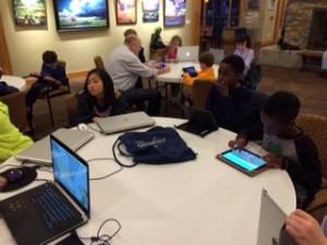 VOM Minecraft club meeting