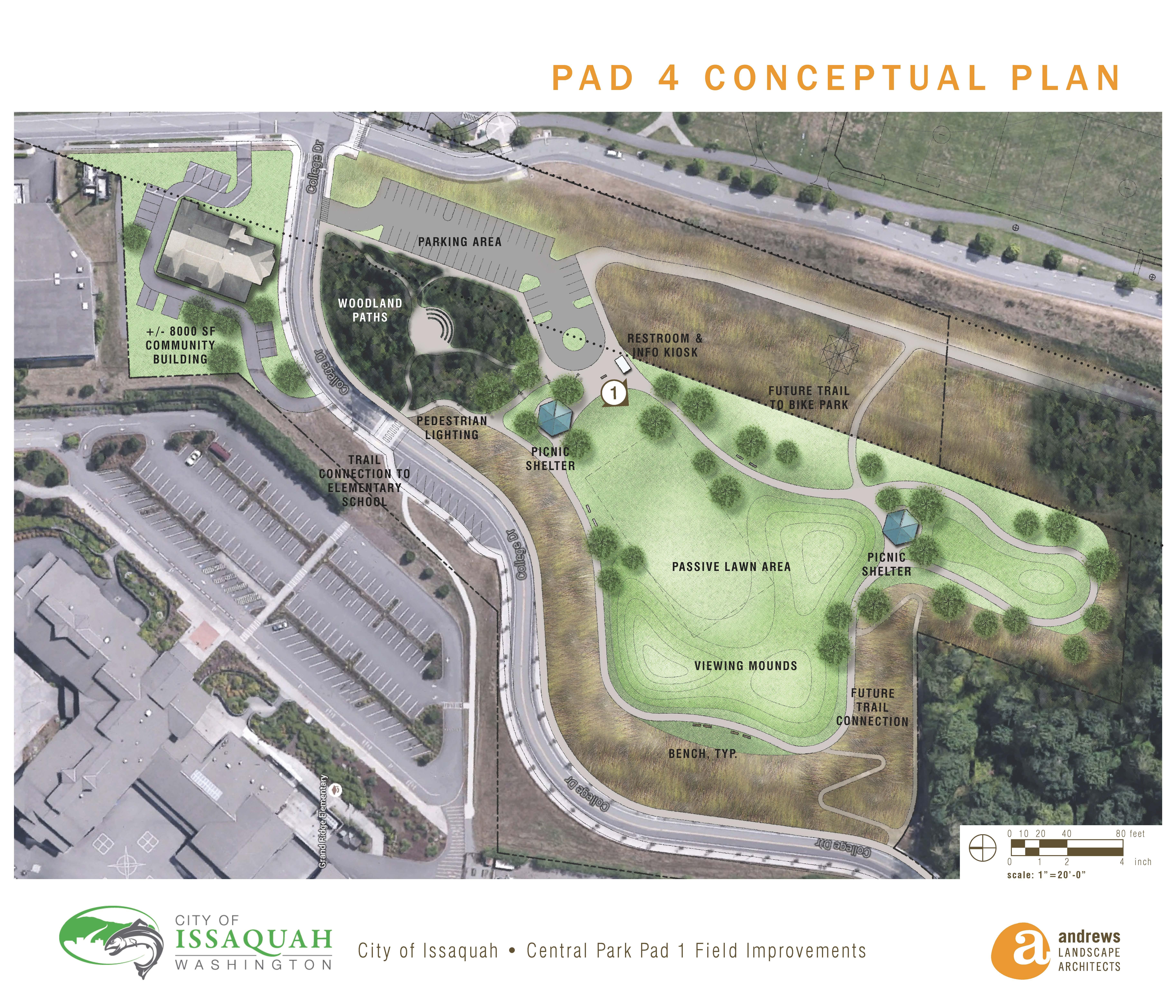 Central Park Pad 4 Conceptual Plan
