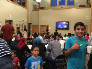 Last year Blakely Hall was full of families gathered to celebrate Iftar.