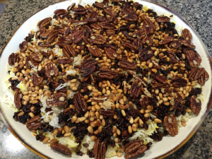 The rice dish author Nada had made for last year's Iftar event at Blakely Hall.