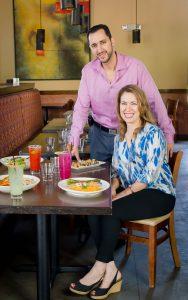 Federico & Faviola at Agave Cocina and Tequilas  - Photo credit Shubha Tirumale