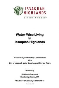 IHCA Water Wise August 2016