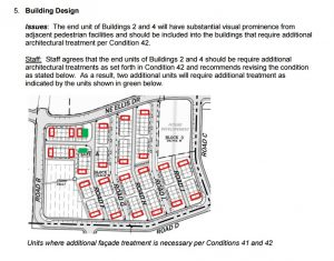 Westridge North Townhomes 1 building end design