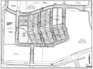 Westridge North Townhomes 1 site plan