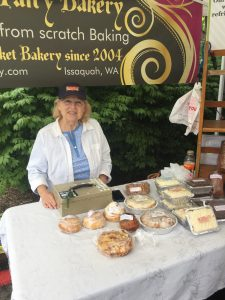 Shirley Hays sells baked goods from Forest Fairy Bakery.