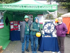 Here is Kumar volunteering at the 2013 Green Halloween Festival, along with Stuart Linscott and Karen McManus of CERT Team 9.