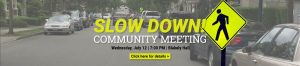 Slow Down Community Meeting Issaquah Highlands