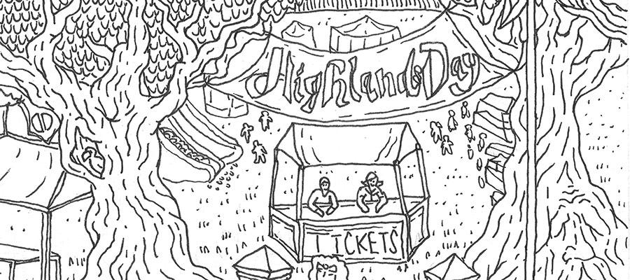 Highlands Day Illustration Jack Tillman
