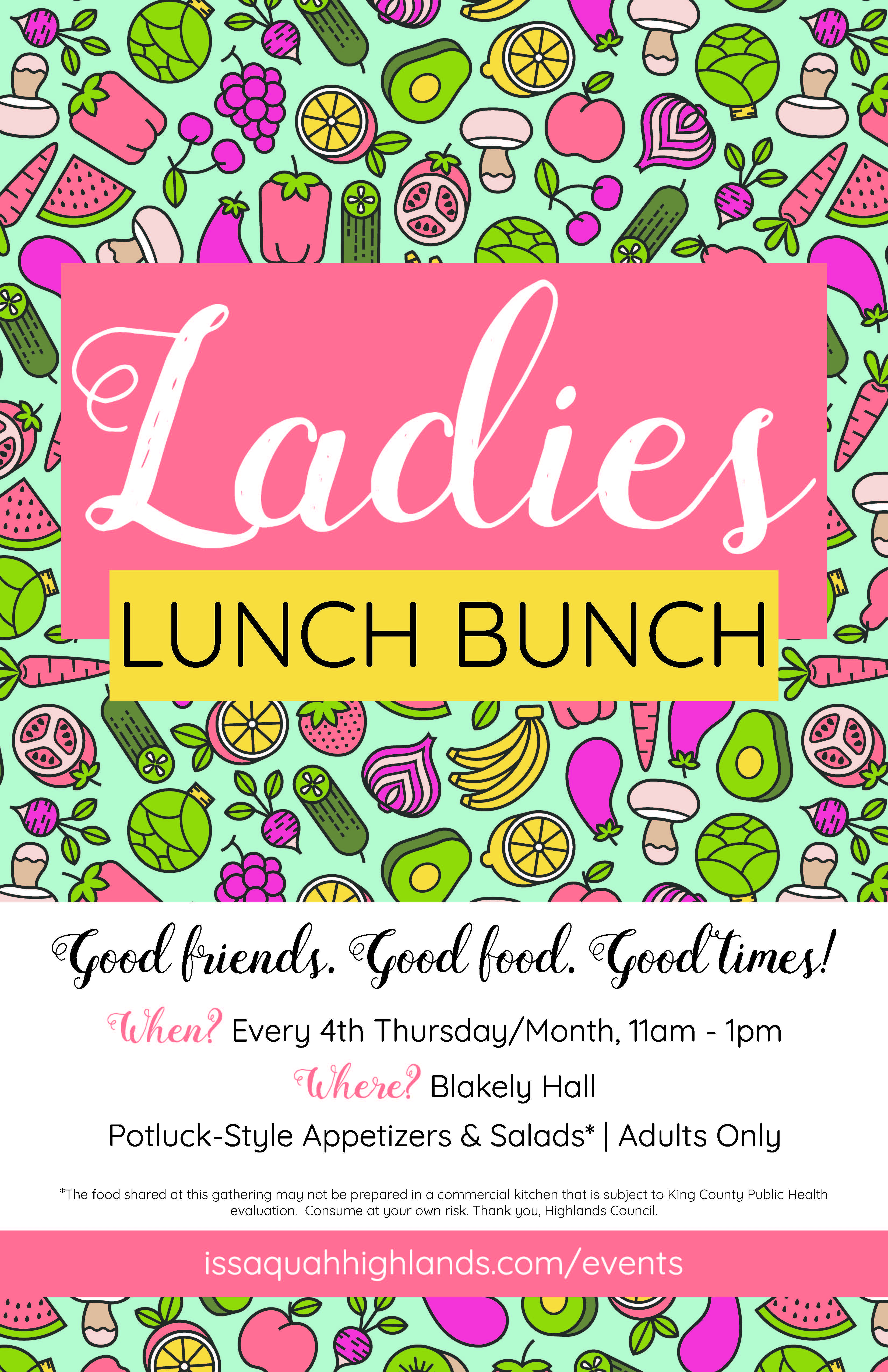 Ladies Lunch Bunch Issaquah Highlands