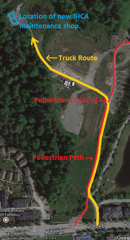 IHCA Maintenance Facility Construction Route