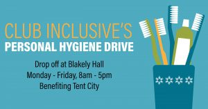 Club Inclusive Personal Hygiene Drive Issaquah Highlands