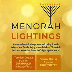 Menorah Lighting at Grand Ridge Plaza