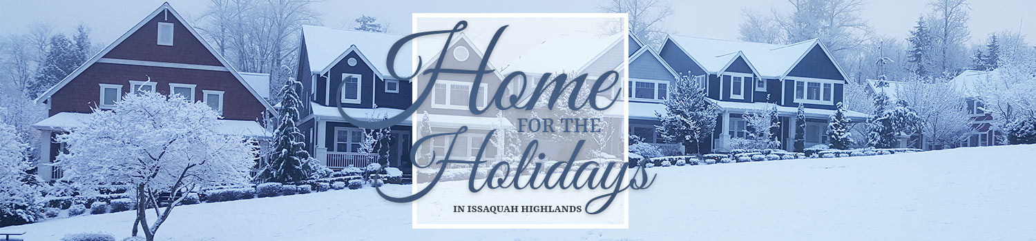 Issaquah Highlands Home for the Holidays web banner