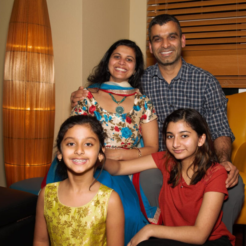 Monisha Chauhan and family