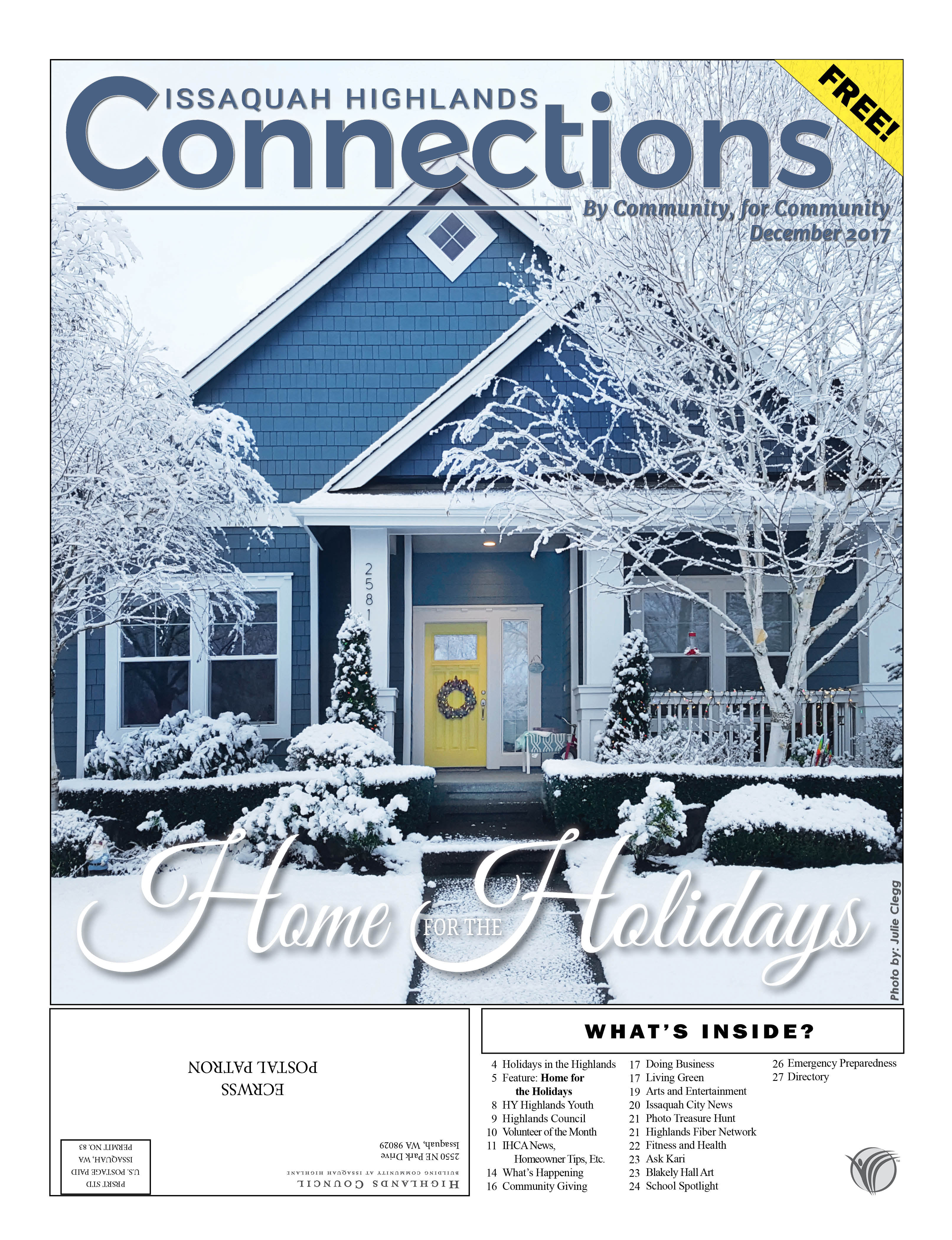 December 2017 Connections Home for the Holidays
