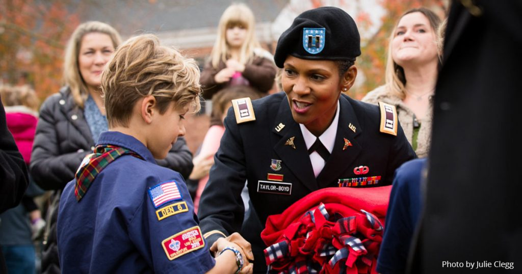 Veterans Day in Issaquah Highlands Boy Scouts 2016