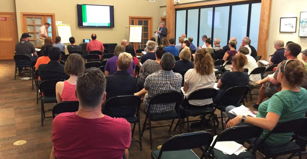 2017 Slow Down Traffic Meeting Attendees Issaquah Highlands