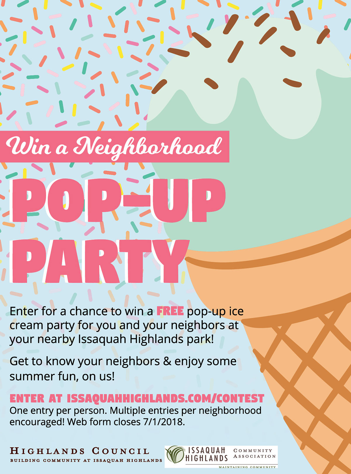 Win a Pop Up Party