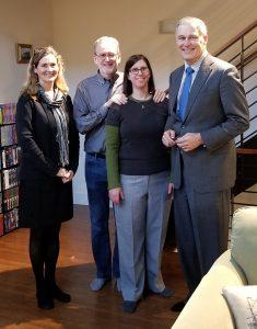 Mayor Mary Lou Pauly, Bryan Bell, Karin Weekly, Gov. Jay Inslee zHomes