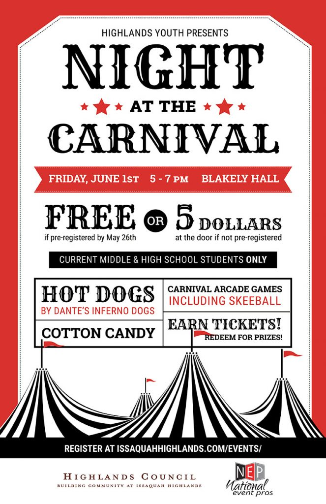 Carnival Night for Teens Issaquah Highlands