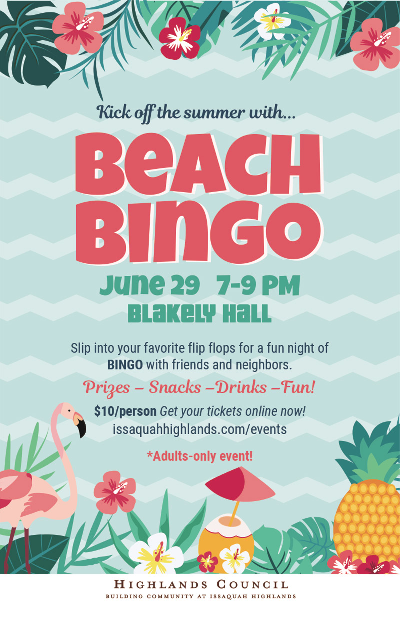 Beach Bingo Issaquah Highlands