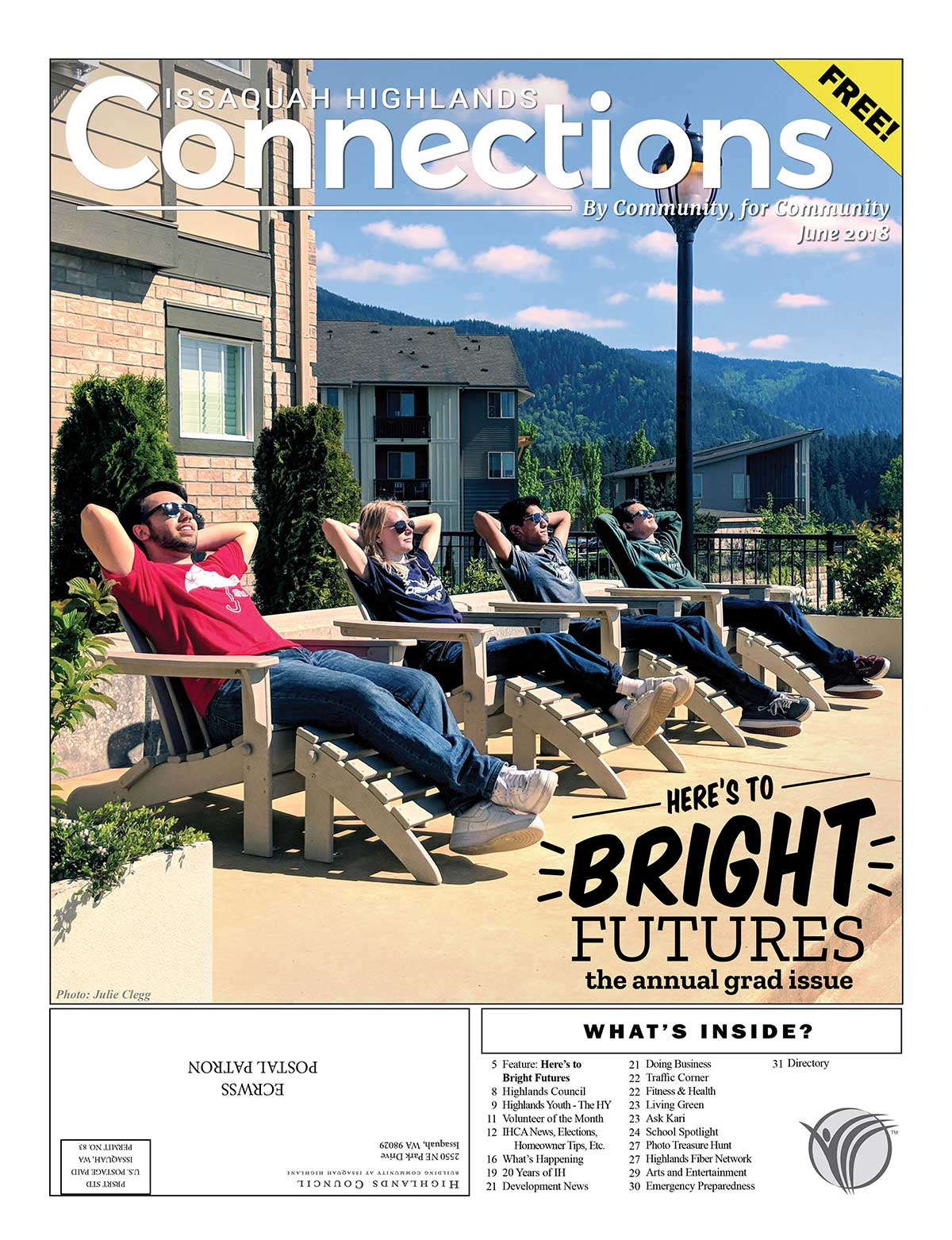 June 2018 Connections Issaquah Highlands Cover