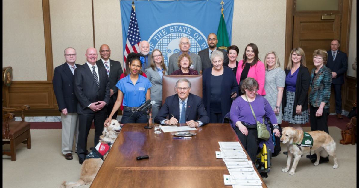 Shanda Taylor Boyd with Governor Jay Inslee