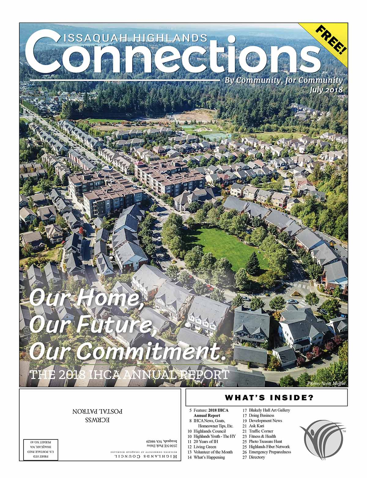 Issaquah Highlands Connections July IHCA Report