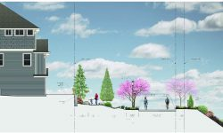 Polygon Homes NW proposed converting a portion of High Street into a linear park, or promenade.