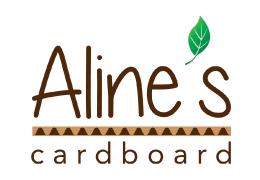 Aline's Cardboard Logo