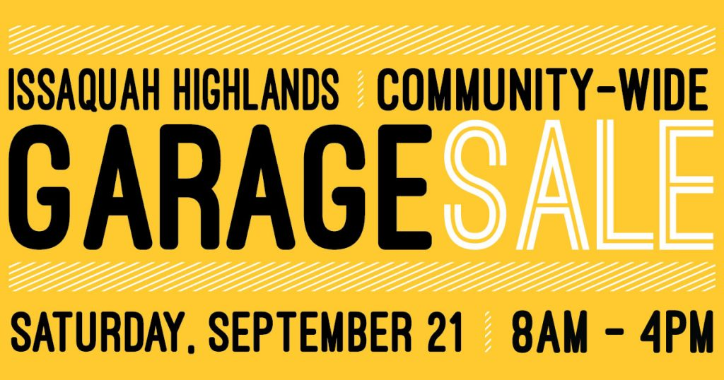 Issaquah Highlands Garage Sale