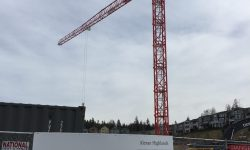 Block 19 Construction Crane w sign 20190327