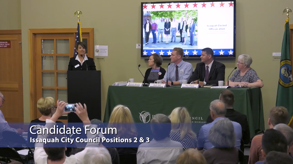 City Council Candidate Forum at Blakely Hall | Issaquah Highlands