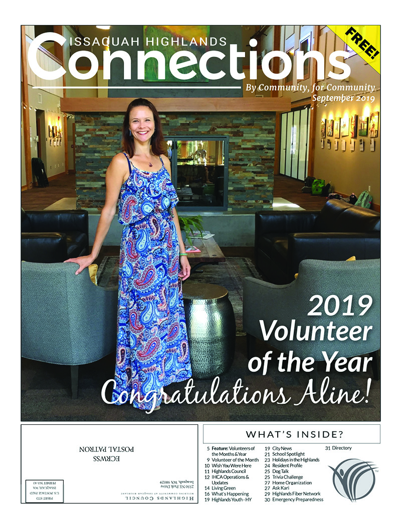 Issaquah Highlands Connections September 2019 Cover