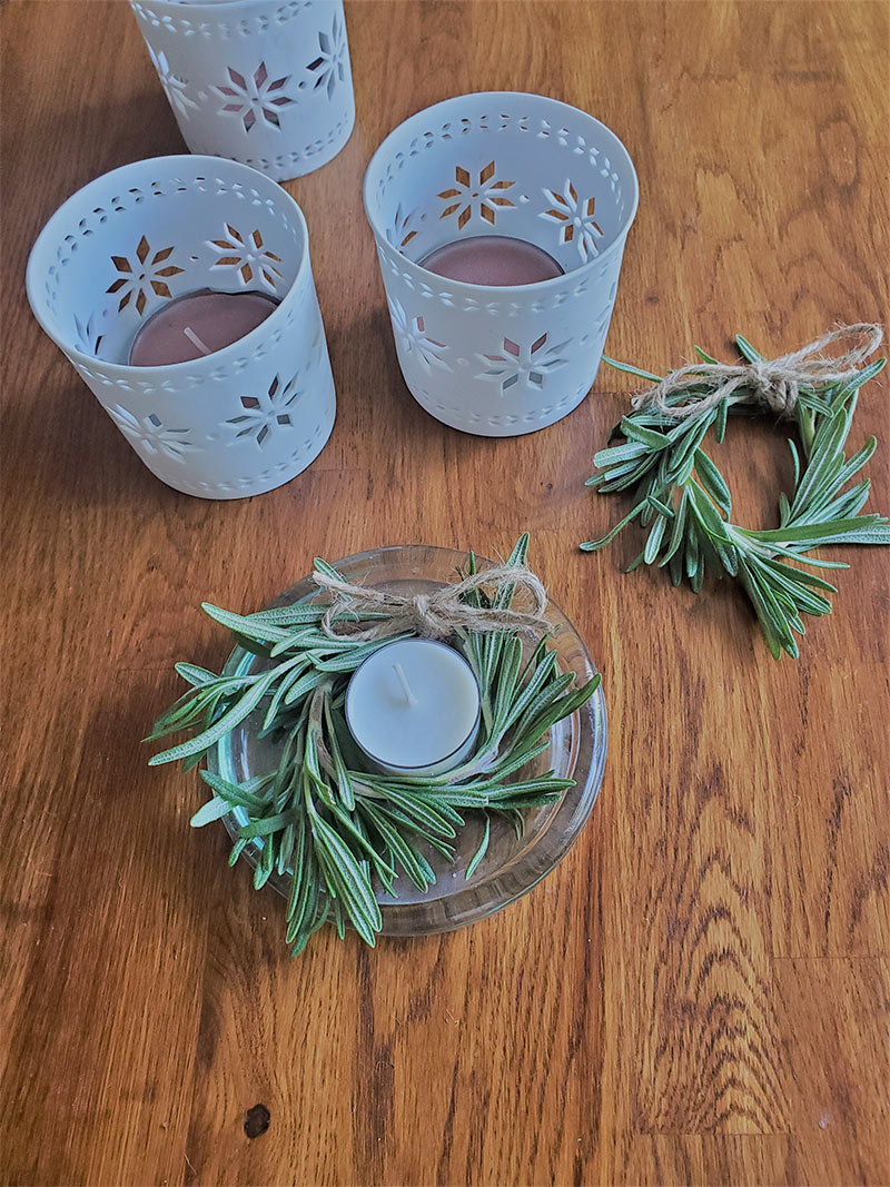 DIY Mini Wreath Candles